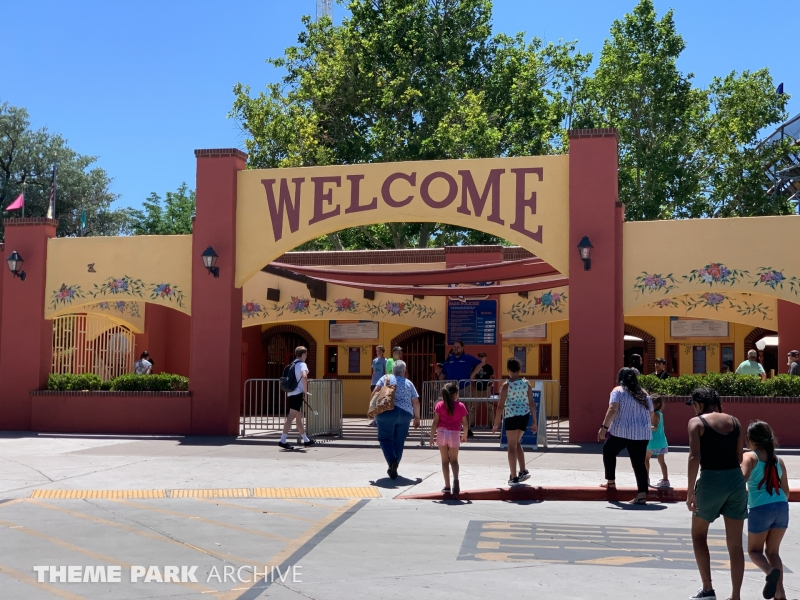 Entrance at Cliff's Amusement Park