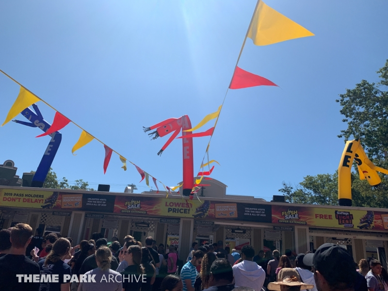 Entrance at Six Flags Great Adventure
