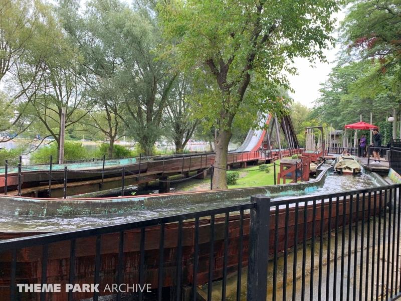Log Flume Ride at Centreville Amusement Park