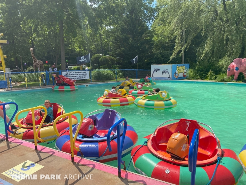 Bumper Boats at Sluggers & Putters Amusement Park