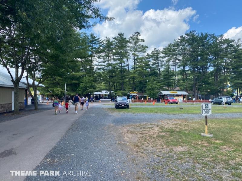 Parking at Knoebels Amusement Resort