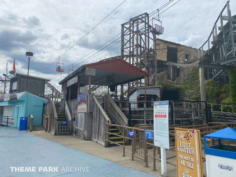 Lost Coaster of Superstition Mountain at Indiana Beach