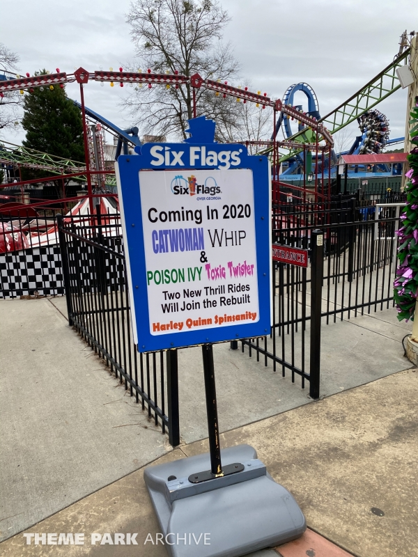 Harley Quinn Spin Sanity at Six Flags Over Georgia