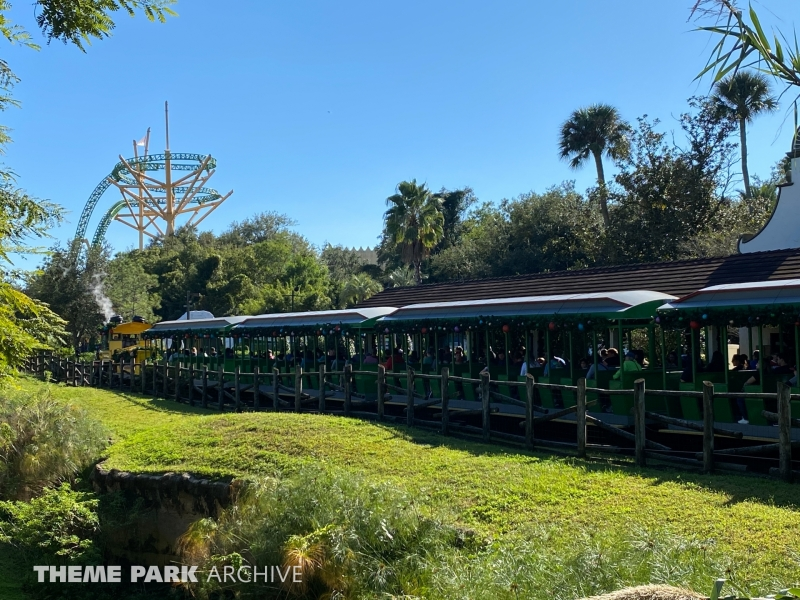 Train at Busch Gardens Tampa