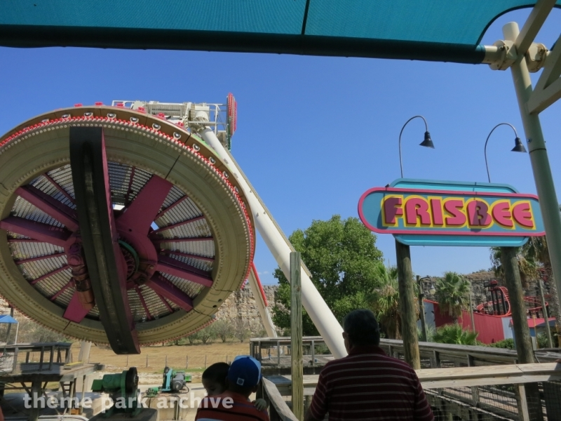 Frisbee at Six Flags Fiesta Texas
