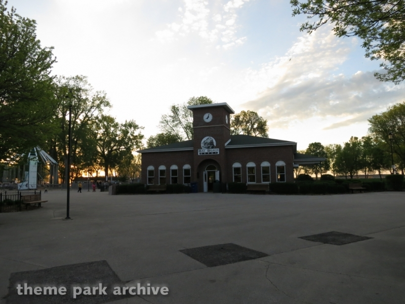 Train Depot at Bay Beach Amusement Park
