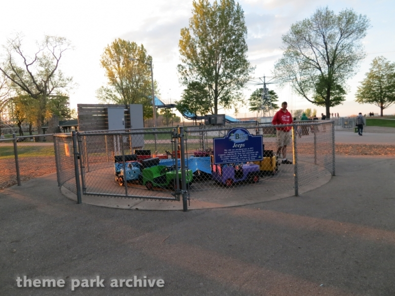 Jeeps at Bay Beach Amusement Park