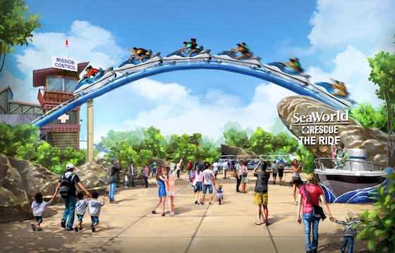 A SeaWorld Animal Rescue-theme ride concept announced in today's SeaWorld Entertainment, Inc. Analyst and Investor presentation. (PRNewsFoto/SeaWorld Entertainment, Inc.)